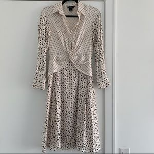 Club Monaco Silk Shirt Dress - Size 0 / Small